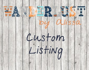 Custom Listing for DEDE - Custom Design Mustache/Little Man Theme Letters with Expedite