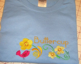 ON SALE Embroidered Tshirt