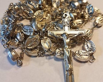 Our Lady of Fatima Metal Bead Rosary Catholic Handcrafted Sacramental