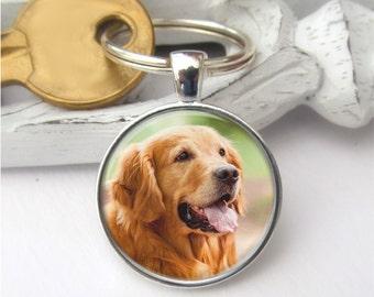Pet Keychain, Dog Keyring, Your Pet's Photo Keyring, Custom Photo Keychain