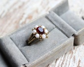 1970s My Heart Cocktail Ring