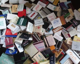 Matches Huge Collection Match Boxes Match Book Tobacciana Assortment Restaurants Hotels Vintage  and Newer Mix