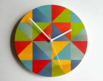 Objectify Mid Century Grid Wall Clock - Medium Size