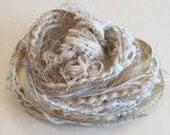 Vintage Ivory Fiber Art, Embellishments, Gift Tags, Scrapbooking, Journaling, Arts and Crafts