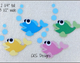 Die Cut FISH Scrapbook Page Embellishments for Card Making Scrapbook or Paper Crafts