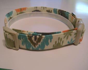 Handmade Cotton Dog Collar - Navajo print