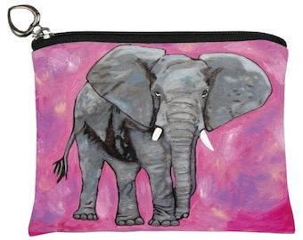 Elephant Change Purse - From my Original Oil Painting, Kelly