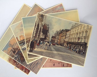 Frank Green's Liverpool Paitings Postcard Set of 6