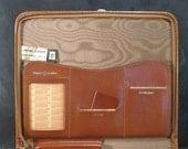 Vintage Cooper Weeks Zippered Leather Portfolio Folder