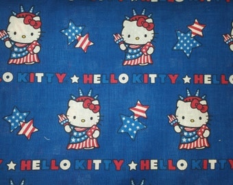 Hello kitty licensed by Sanrio blue background statue of liberty hello kitty with stars rare oop