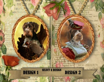 Wirehaired Pointing Griffon\ Korthals Pointing Griffon Jewelry. Wirehaired Pointing Griffon Pendant or Brooch.