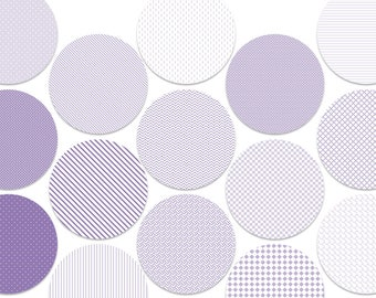"""Purple Circle Digital Download Cabochon, Pendant, 2"""", 50mm, 2 inch, Collage Sheet. Will resize to any size you need."""
