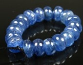 Premium Quality Silvery Blue Kyanite Small Rondelle Bead - 6mm x 4mm - 18 beads - B6294