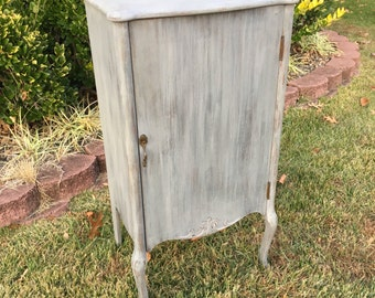 Vintage Chic Grey Small Cabinet