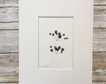 Original Art, Pebble Art, Wall Art, Sharon Nowlan, Simple decor, Neutral Decor, Cottage Decor, Fine Art, Minimalist decor