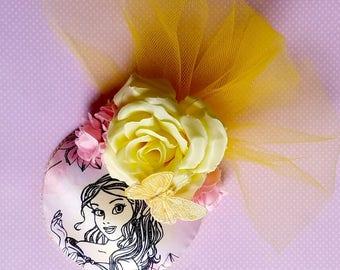 Belle Pastel Princess Fascinator