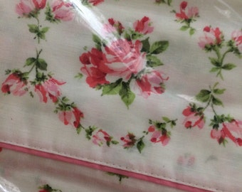 VINTAGE new twin flat sheet shabby chic