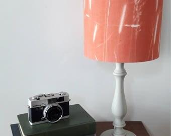 Wild grass lampshade, drum lampshade, decor lamp shade, modern copper lampshade, table lamp, decor lighting, cyanotype  lamp shade