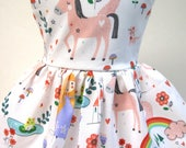 Princess and Unicorn Dream, Sleeveless Dress for your 18 Inch Doll D