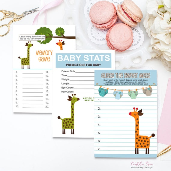 baby shower game cards baby stats memory game guess this sweet mess