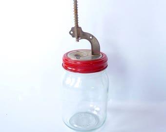 Vintage Krasco Glass Jar Cherry or Olive Pitter