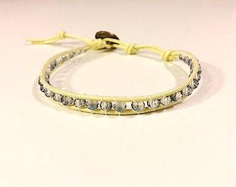 Iridescent blue sunshine bracelet