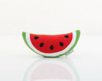 Watermelon Plush - Watermelon Toy (Green/White/Bright Red)
