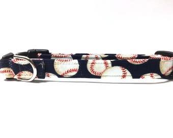 Naked Dog Collar- The Blue Baseball