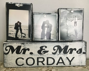 Bridal shower gift-unique wedding gift for couple-gift for wife-personalized wedding gift- wedding sign- anniversary gift- Mr and Mrs sign