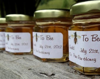 25 Honey Wedding Favors Pure Raw Honey 2.25 oz jar Reserved for Laura
