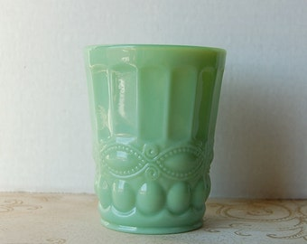 Jadeite Green Milk Glass Tumbler