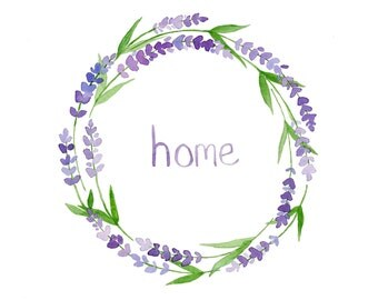 Lavender Home Print - Home Decor Wall Art
