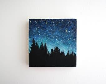 Night Sky Painting - 5 x 5