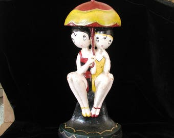 Hubley Bathing Beauties - Cast Iron Doorstop - Rare -