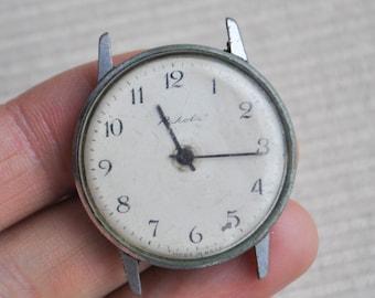 Vintage Soviet Russian wrist watch for parts.Didn't work.