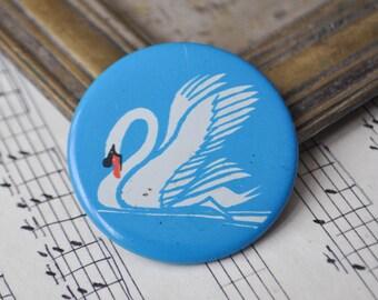"Vintage Soviet Russian tin badge,pin.""Swan"""