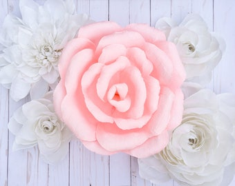 "Giant Crepe Paper Roses 8""-16"""