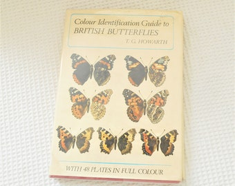 Butterflies Illustrated Vintage Book British Butterflies TG Howarth 48 Vintage Plates 1973