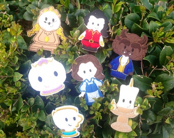 Beauty and the Beast Finger Puppets, finger puppets, puppets, Beauty and the Beast