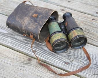 Binoculars - Vintage - Merchant Marine Paris - Day and Night - Home Decor