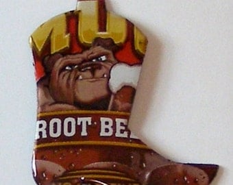WESTERN BOOT Magnet - MUG Root Beer Soda Can