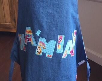Shopkins Apron, Girl's Personalized Shopkins Apron, Painting apron, Shopkins Art Smock, Shopkins Birthday Party, Lippy Lips, Kooky Cookie
