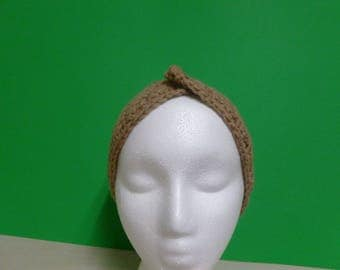 Camel brown headband and ear cover