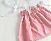 Dusty Pink Vintage Inspired Ruffle Waist Suspender Skirt, Suspender Shorts, Bloomers, Diaper Cover, Baby & Toddler Skirts