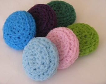 Crochet Scrubbies, Nylon Pot Scrubbers, Dish Scrubber, Kitchen Scratchers, Net Scrubby, Washable, Scratch Free
