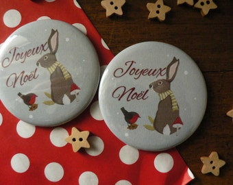 Christmas Magnet featuring a Christmas bunny