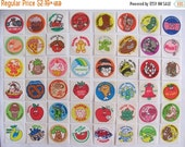 ON SALE Vintage Trend Matte Scratch & Sniff Stickers 80's - You Choose One or Whole Lot of 48 - Pizza Gingerbread Mint Rootbeer Licorice