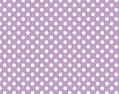 SHOP CLOSING SALE Polka Dot Fabric by the yard Riley Blake Small Dot in Lavender