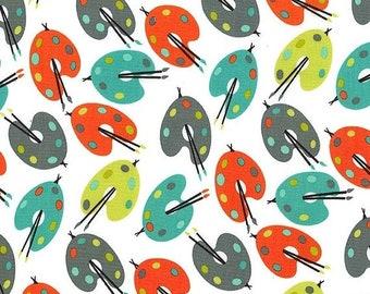 SHOP CLOSING SALE Fat Quarter fabric for quilt or craft Michael Miller Paint Palettes in Retro Fat Quarter