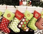 Christmas Stockings Christmas Stocking Monogrammed Christmas Stockings Personalized Christmas Stocking 16 Patterns Availble